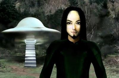 Καλλιτεχνικό τύπωμα  Ελοχίμ και UFO, όπως το είδε ο Claude Vorilhon